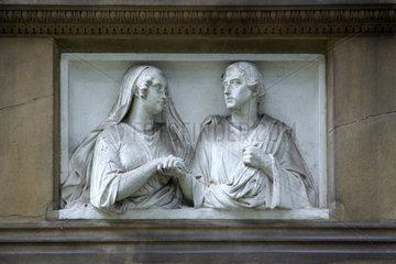 Relief auf dem 'Alten Friedhof' in Bonn