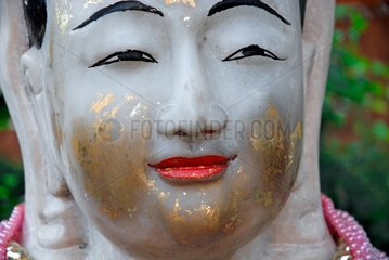 Marmorbuddha im Wat Chana Songkhram