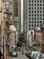 Haeuserschlucht in San Francisco