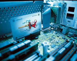 Jokerkarte in einem Rechner