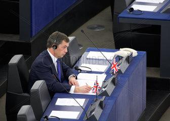 Strasbourg  ein britischer Europaabgeordneter im Europaparlament