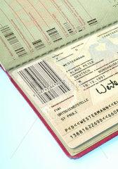 Hamburg  Reisepass mit Strichcode