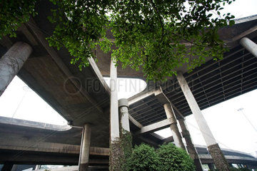 Overpasses  low angle view