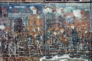 Wandmalerei im Kloster Sumela nahe Trabzon in der T__rkei