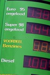 Zapfsaeule an einer niederlaendischen Tankstelle