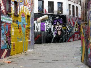 Gent: Altstadtgasse fuer Graffiti-Kuenstler reserviert