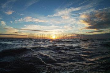 St. Lucia  Sonnenuntergang ueber dem Atlantik