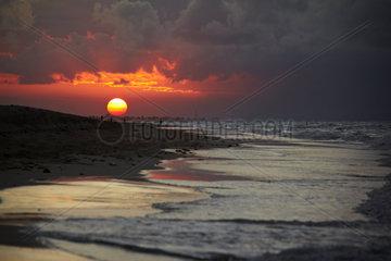 Sonnenuntergang am Strand von Varadero