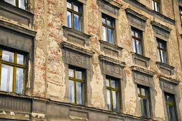 Verfallene Haeuser in Goerlitz