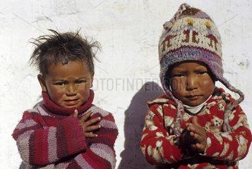 Kinder im Mustang Gebiet  Annapurna Region  Nepal