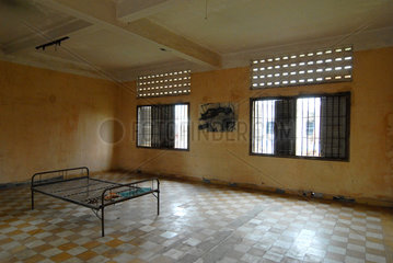 Phnom Penh  Kambodscha  kambodschanisch  ein Folterraum im Tuol Sleng Museum