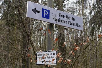 Parkplatz fuer das Russische Generalkonsulat in Bonn