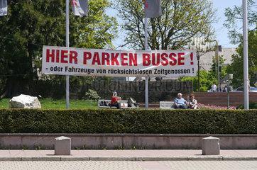 Witzige Busparkplatz-Ausschilderung in Freudenstadt