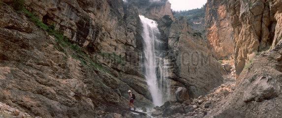 Wasserfall in den Dolomiten