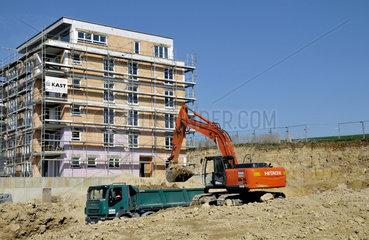 Bau eines Mehrfamilienhaus