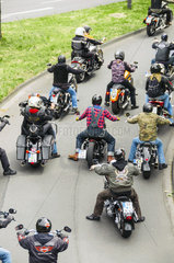 Motorraddemo gegen Intoleranz im Strassenverkehr