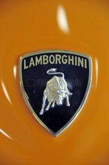 Lamborghini Logo auf einem Lamborghini Diabolo GT