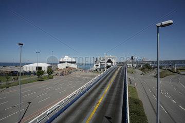 Puttgarden  Deutschland  die leere Autoverladestation der Scandlines- Reederei