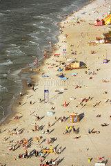 Kuestenstreifen an der Ostsee in Leba  Polen