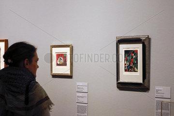 Ausstellung Tendenz Abstraktion - Kandinsky und die Moderne um 1910 in der Kupferstich-Kabinett  Residenzschloss  Staatliche Kunstsammlungen Dresden