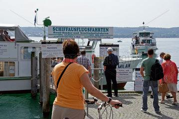 Schiffsanleger Ueberlingen am Bodensee