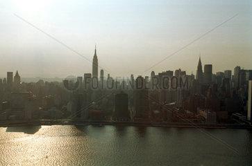 New York  USA  Manhattan aus der Luft