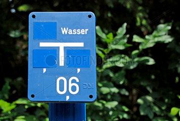 Markierung einer Wasserleitung