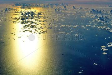 Sonnenuntergang ueber der Karibik
