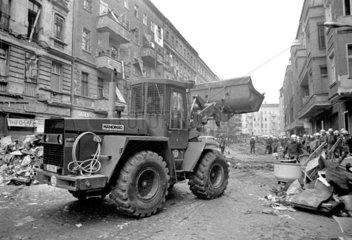 Raeumung besetzter Haeuser in der Mainzerstrasse