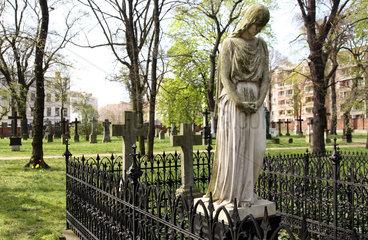 Berlin  Deutschland  alter Garnison-Friedhof im Scheunenviertel