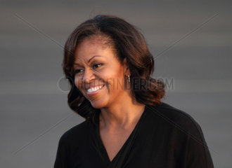 Berlin  Deutschland  Michelle Obama bei der Ankunft in Berlin