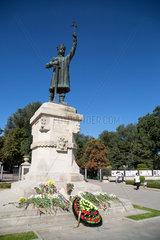 Republik Moldau  Chisinau - Denkmal des moldawischen Nationalhelden Stefan cel Mare