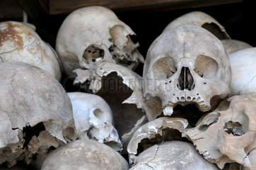 Killing Fields Gedenkstaette bei Phnom Penh