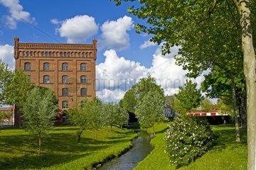 alte Industriegebaeude in Poessneck  Thueringen  Deutschland  Europa
