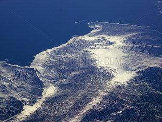 Treibeis in den Meeresstroemungen der Baffin Bay