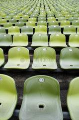 Sitzreihen im Olympiastadion Muenchen