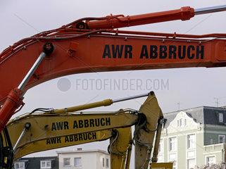 Abbruchbagger der Firma AWR GmbH