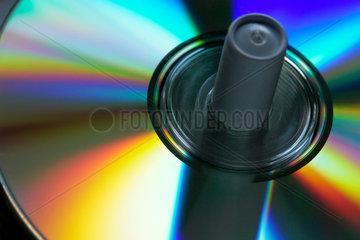 CD-Rohling auf einer Spindel