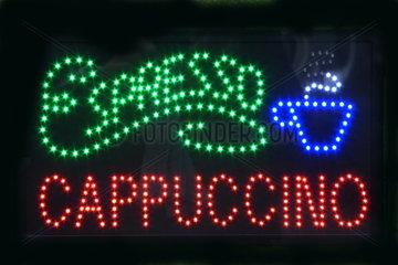 Leuchtreklame Espresso Cappuccino