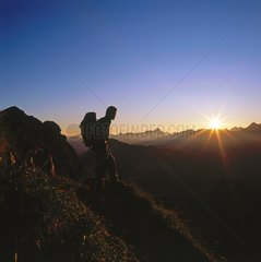 Sonnenaufgang in den Tuxer Alpen