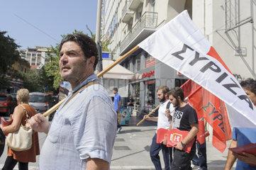 Syriza-Wahlkampf zu Parlamentswahl in Griechenland im September 2015