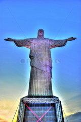 Frontansicht von Cristo Redentor  Rio de Janeiro  Brasilien