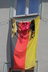 German flag and bra for the Football World Cup 2014