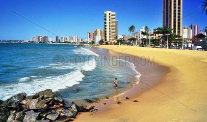 Beach promenade Fortaleza  Ceará  Brazil
