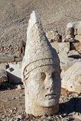 Statuenkopf auf der Westterasse des tuerkischen Nemrut Dagi