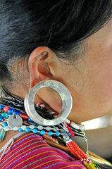 Thailand: Karen-Frau mit Ohring