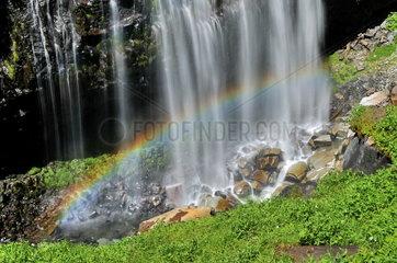 Regenbogen am Narada Wasserfall im Mount Rainier Nationalpark