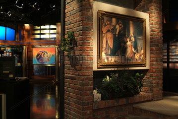 Studio der Sendung The 700 Club