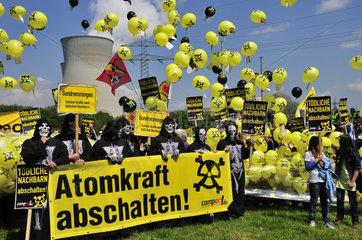 Anti-Atomkraft-Demonstration vor dem AKW Gundremmingen