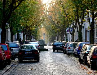 Verkehrsberuhigte Citynahe Wohnstrasse mit Alleecharakter
